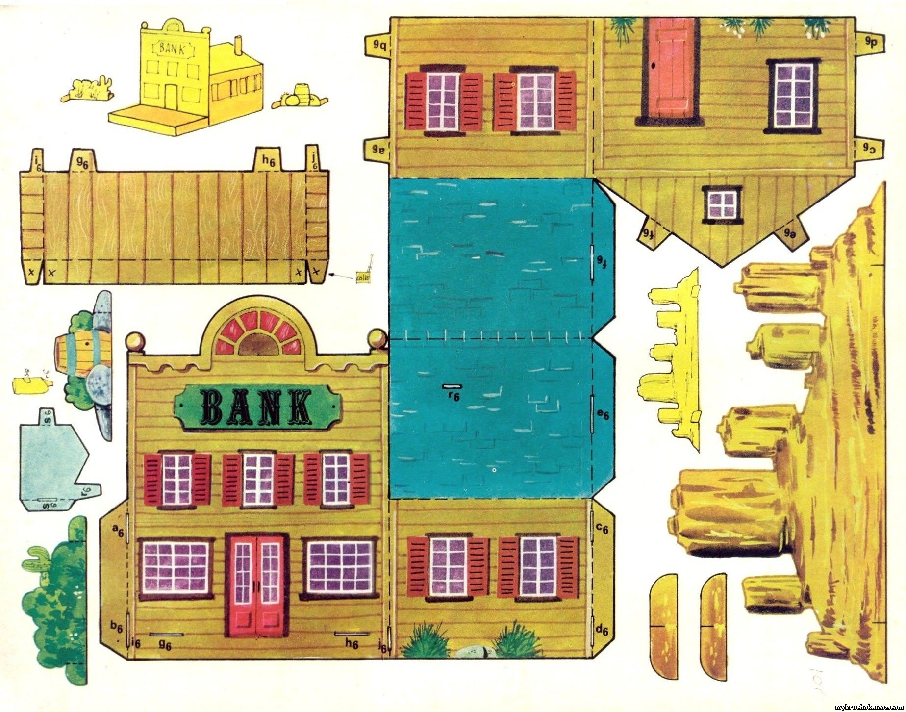 Рисунок дома для поделок 110